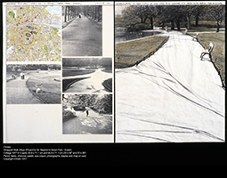 Plans by artist Christo for 'wrapping' St Stephens Green Dublin ROSC '77
